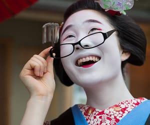 creative, geisha, and smiling image