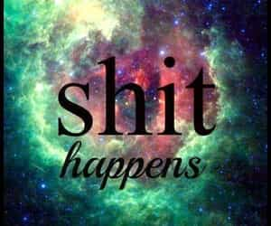 quote, space, and it happens image