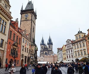 prague, tower, and czech republic image