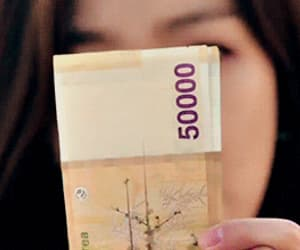 asian, gif, and money image