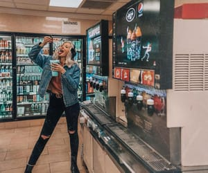 fashion, gas station, and levis image
