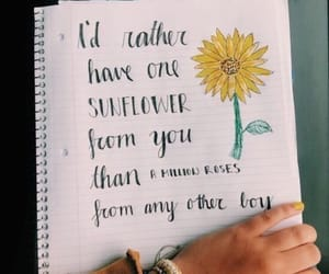quotes, sunflower, and love image