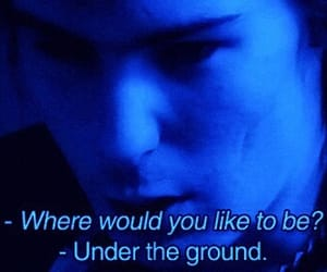 legend, sid vicious, and blue glow aesthetic image