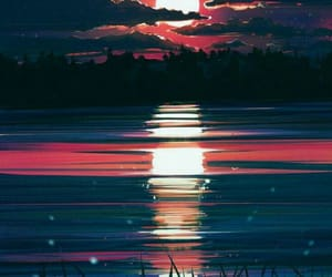 art, sunset, and wallpaper image