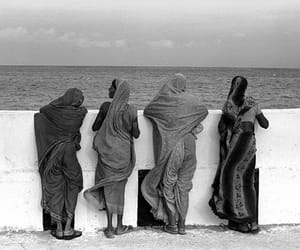 black and white, religion, and women image