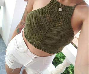 crochet, moda, and tejido image