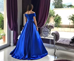 blue, dress, and Prom image