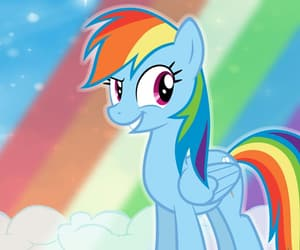 awesome, clouds, and my little pony image