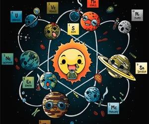 dibujo, sistema solar, and reir image