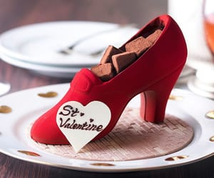 chocolate, heart, and february image