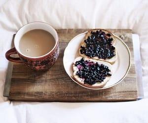 blackberries, breakfast, and cofee image