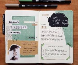 art, writing, and green image