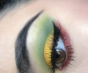green, yellow, and brows image