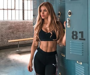 girl, gym, and workout image