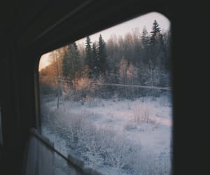 winter, travel, and snow image
