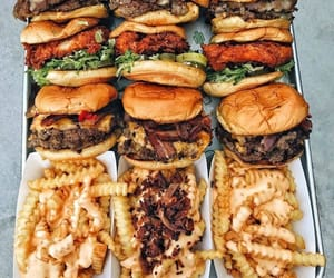 food, burger, and meal image