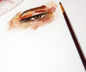 art, artistic, and eyes image