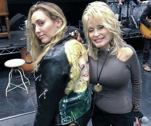 dolly parton, miley cyrus, and aunt dolly image