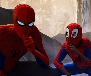 spiderman, miles morales, and spiderverse image