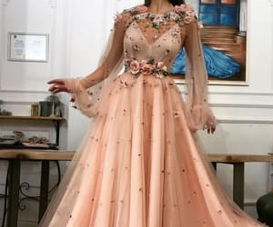 dress, beautiful, and floral image