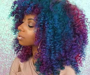 african american, natural hair, and rainbow image