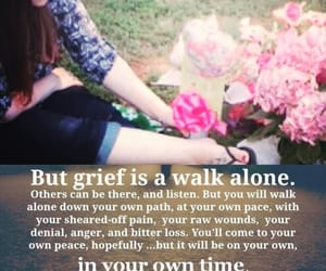 alone, girl, and grief image