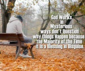 blessing, gods mysterious ways, and Christianity image