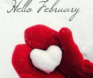 february, hello february, and heart shaped image