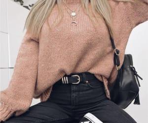 belt, blonde, and jeans image