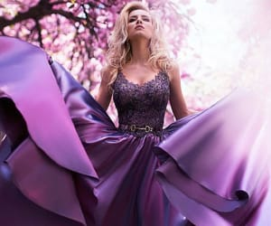 dress, purple, and style image