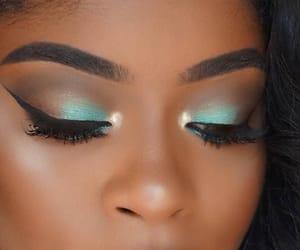 eyeshadow, lipstick, and eyebrows image