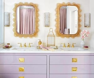 bathroom, interior, and lavender image