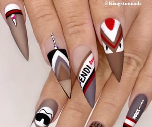 acrylic, stiletto nails, and claws image