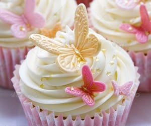 butterflies, cupcakes, and wedding image
