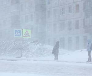 blizzard, russia, and snowstorm image