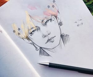 draw, bts, and art image