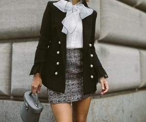 beret, fashion, and blazer image