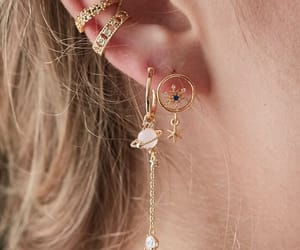 beautiful, dainty, and earrings image