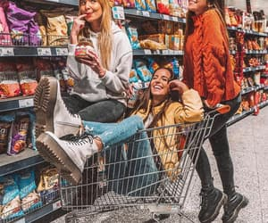 best friends, besties, and carts image