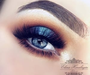 blending, blue, and brown image