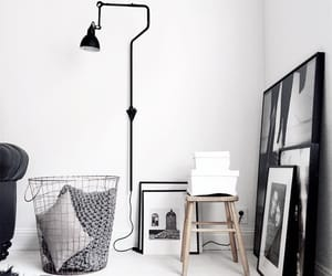 black, white, and decor image