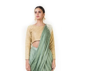 formal party wear sarees image
