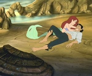 disney, ariel, and beach image