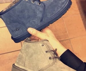 boot, gray, and navy blue image