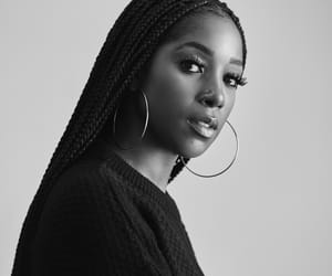 actress, black and white, and melanin image