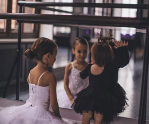 ballerina, ballet, and sisters image