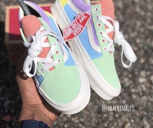 vans, pastel, and shoes image