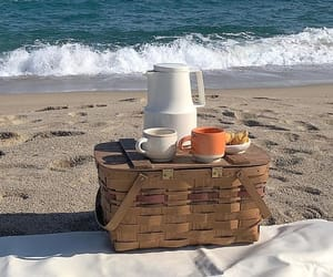 basket, beach, and beige image