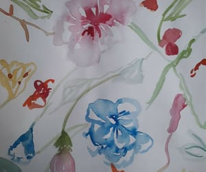 art, floral, and watercolor image