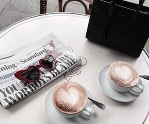 coffee, sunglasses, and bag image